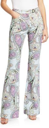 Etro Paisley Flare-Leg Jeans