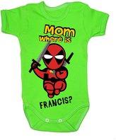 Colour Fashion Baby Deadpool Bodysuits Shortsleeve 100% Cotton 0 - 24 months 0005
