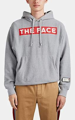 """Gucci Men's """"The Face"""" Cotton Terry Hoodie - Gray"""