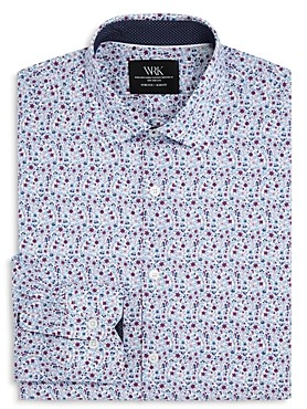 Work Rest Karma Floral Print Slim Fit Dress Shirt