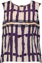 Marni Printed cotton-crepe top