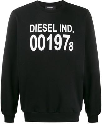 Diesel Long Sleeve Printed Logo Sweater