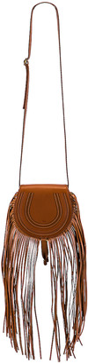 Chloé Small Marcie Fringe Saddle Bag in Tan | FWRD