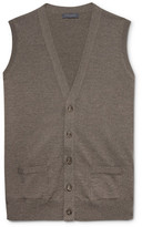 Thom Sweeney - Merino Wool Vest - Brown