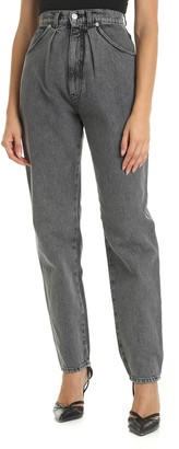 Alberta Ferretti Delave Grey High-waisted Jeans