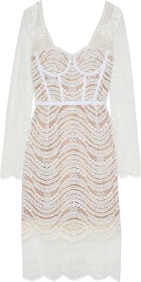 Jonathan Simkhai Grosgrain-trimmed Corded Lace Dress