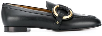 Chloé Ring-Detail Leather Loafers