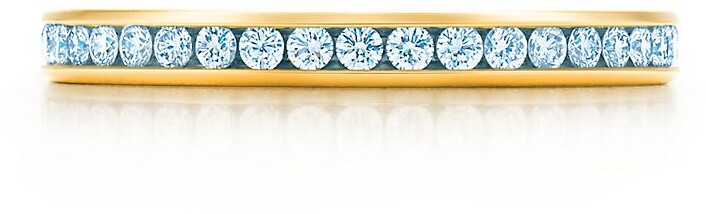 Tiffany & Co. Channel-set band ring Diamonds, 18k gold 2mm