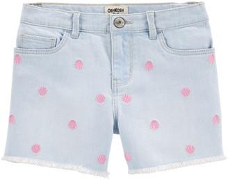 Osh Kosh Girls 4-12 Shells Stretch Denim Shorts