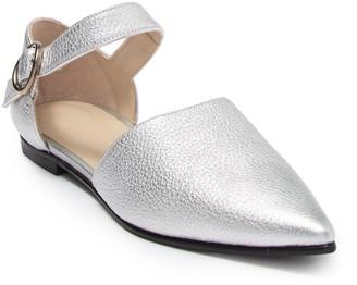 Freda Salvador Sloan Leather Metallic Flat