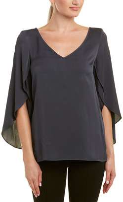 Milly Butterfly Silk-Blend Top