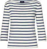Polo Ralph Lauren Striped Cotton Boatneck Tee