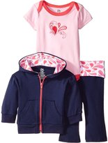 Yoga Sprout Baby-Girls Paisley Collection Hoodie Bodysuit and Pant Set