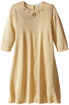 Dolce & Gabbana Lurex Long Sleeve Dress (Toddler/Little Kids)