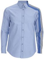Msgm Side Stripe Shirt Blue
