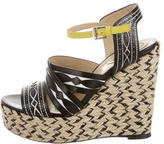Etro Multistrap Wedge Sandals
