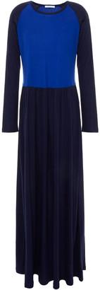 Ninety Percent Gathered Two-tone Tencel-jersey Maxi Dress
