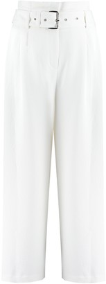 MICHAEL Michael Kors Belted Crepe Trousers