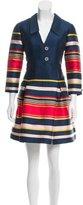 Suno Striped Satin Dress