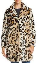 Cupcakes And Cashmere Abeni Leopard Print Faux Fur Coat