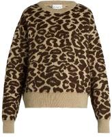 Raey Leopard-jacquard mohair-blend sweater