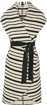 Alice + Olivia Keira striped cotton-blend bouclé vest