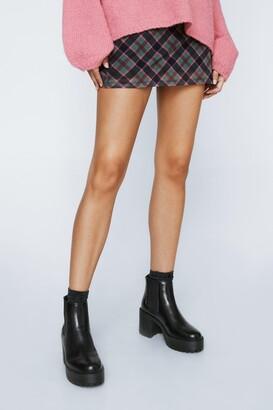 Nasty Gal Womens Aim High Platform Chelsea Boots - Black - 5, Black
