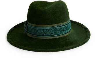 Philip Treacy Contrast-Trim Trilby Hat
