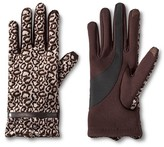 Isotoner Impressions By Women's Leopard Gloves - Black and White