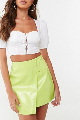 Forever 21 Missguided Faux Croc Mini Skirt