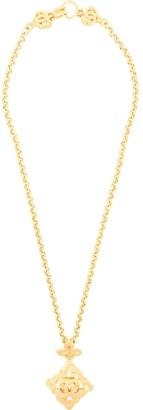 CC motif pendant necklace