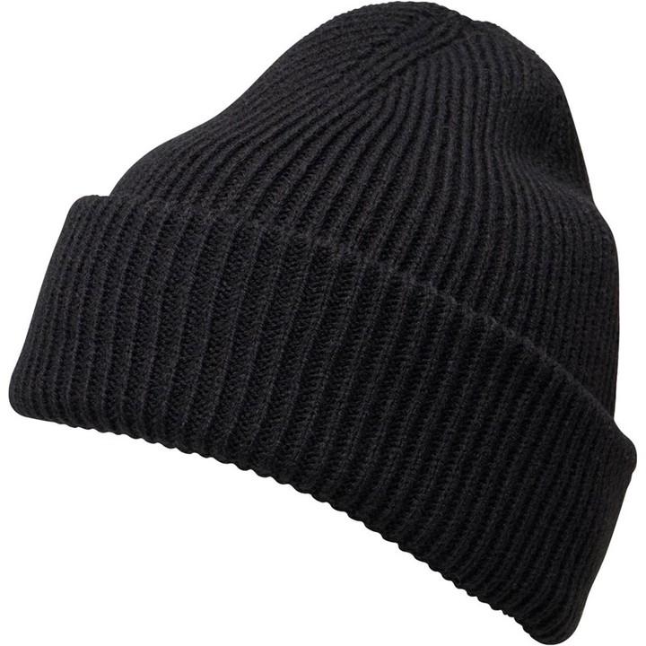 e083bcd39 Mens Plain Knit Beanie Black