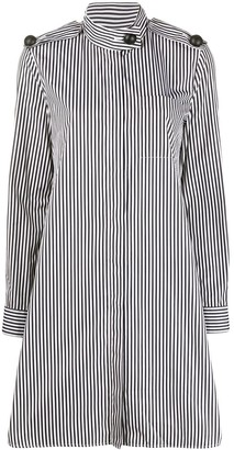 Maison Rabih Kayrouz Striped High-Neck Midi Dress