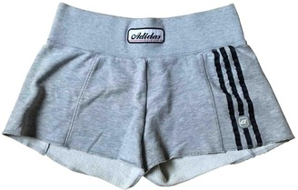 adidas Grey Cotton Shorts for Women Vintage