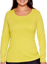 STYLUS Stylus Long-Sleeve Crewneck T-Shirt - Plus