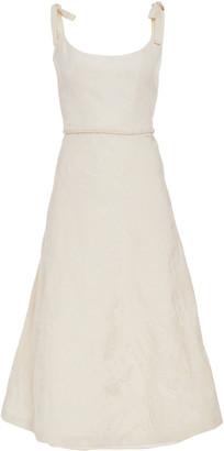 MARKARIAN Ornella Bias-Cut Brocade Corset Dress