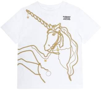 BURBERRY KIDS Printed cotton T-shirt