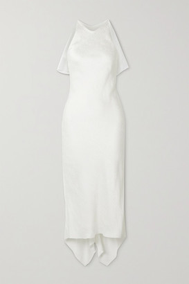 Cushnie Satin-jacquard Midi Dress - Ivory