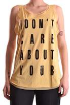 Twin-Set Women's Yellow Polyester Tank Top.