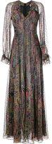 Etro Paisley Print Silk-Blend Maxi Dress