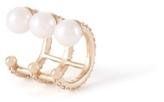 Paige Novick 3 Row Diamond Pave Ear Cuff with Three Pearl Details