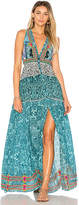 Rococo Sand X REVOLVE Maxi Dress in Turquoise. - size L (also in M,S,XS)