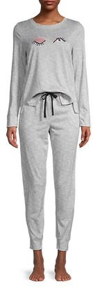 Kate Spade 2-Piece Embroidery Pajama Set