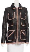 Chanel Leather and Tweed Jacket