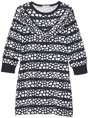 crewcuts by J.Crew Texture Dress (Toddler/Little Kids/Big Kids) (Navy/Ivory) Girl's Clothing