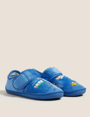 Marks and Spencer Kids' Transport Riptape Slippers (5 Small - 12 Small)