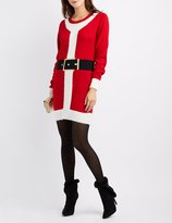 Charlotte Russe Santa Outfit Sweater Dress