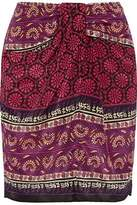 Anna Sui Printed Silk And Cotton-Blend Mini Skirt
