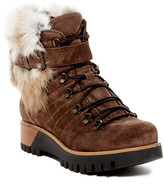 Manas Design Faux Fur Lined Lace-Up Boot