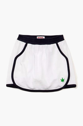 Girls' Trimmed Pique Skirt
